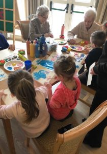 Nursery children and caare home residents build unlikely friendship