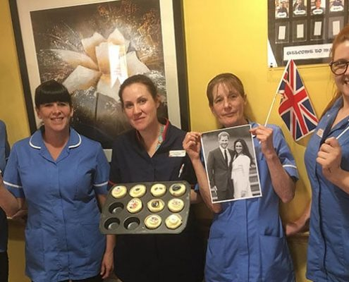 Staff-at-Sandiacre-Court-show-off-their-baking-skills-to-celebrate-royal...
