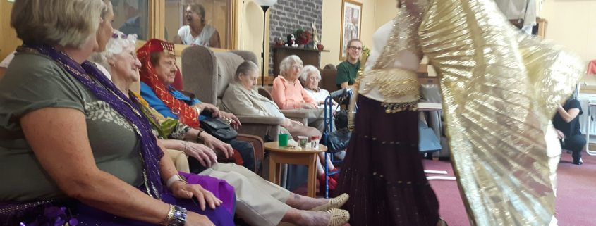 Belly Dancing demonstration at care home party